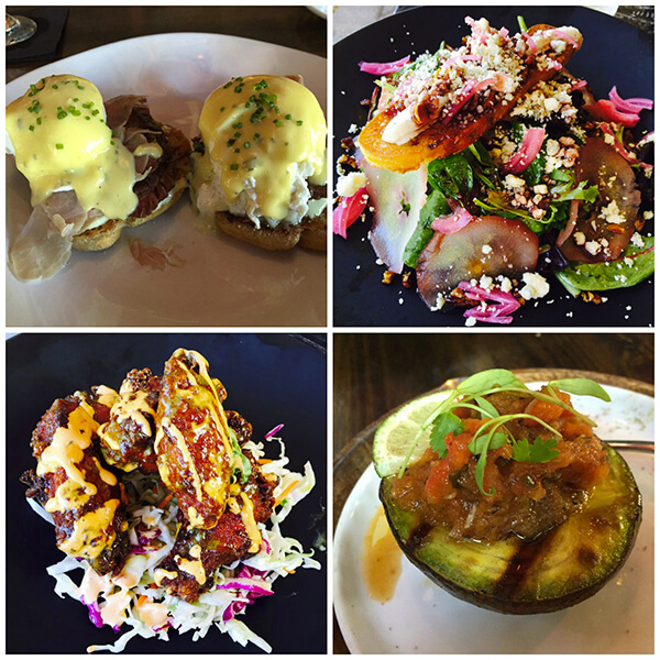 montage of food at Brule in Delray Beach